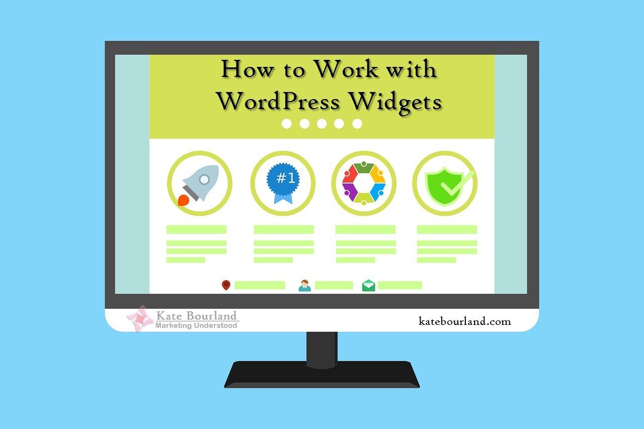 How to work with wordpress widgets